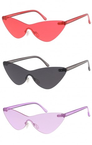 Shield Cat Eye Color Tint Wholesale Sunglasses