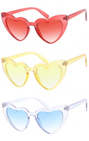 Color Frame Heart Womens Wholesale Sunglasses