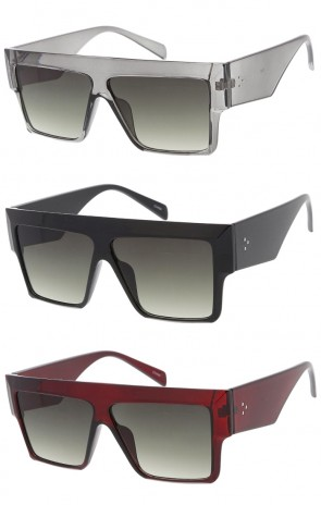 Oversized Flat Top Horn Rimmed Wholesale Sunglasses