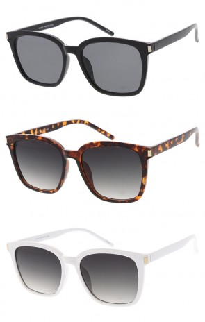 Classic Horn Rimmed Square Frame Flat Lens Wholesale Sunglasses