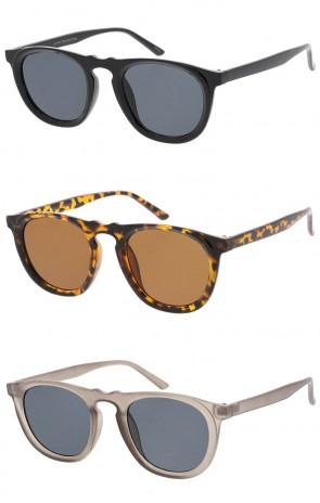 Unisex Horn Rimmed Keyhole Bridge Square Lens Wholesale Sunglasses