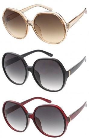 Oversize Round Neutral Colored Lens Wholesale Sunglasses