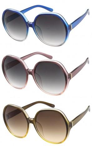 Oversize Translucent Round Gradient Lens Wholesale Sunglasses