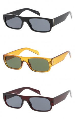 Unisex Rectangle Neutral Colored Lens Wholesale Sunglasses