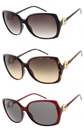 Women's Oversize Square Neutral Colored Lens Wholesale Sunglasses