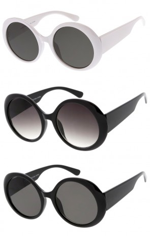 a36495820446a Women s Wide Arms Oversize Round Neutral Colored Lens Wholesale Sunglasses