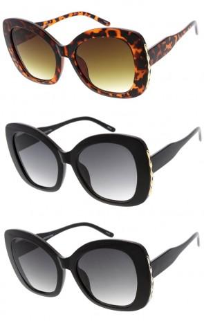 463c9f5c68 Oversized Luxury Fashion Bow Shaped Plastic Wholesale Sunglasses