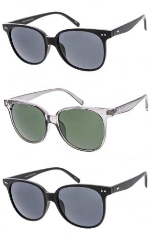 Unisex Classic Horned Rim Plastic Frame Riveted Wholesale Sunglasses