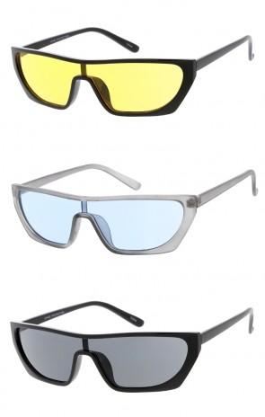 17ffc1493ee7 Retro Style Shield Frame Wholesale Sunglasses
