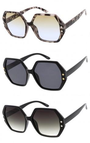 8daa2659f87 Overisze Plastic Hexagon Shape Wholesale Sunglasses