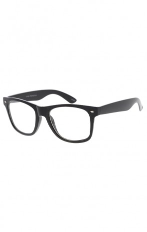 Classic Retro Nerdy Horned Rimmed Clear Lens Glasses