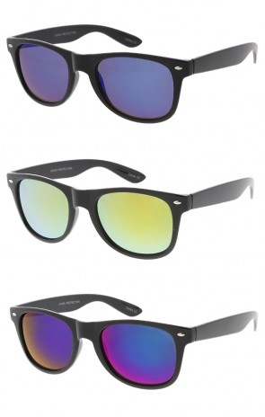Classic Horn Rimmed Mirror Lens Wholesale Sunglasses
