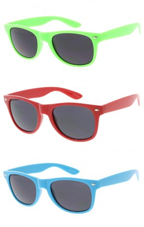 Party Beach Retro 80's Fashion Neon Color Horned Rim Wholesale Sunglasses