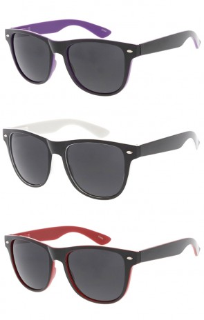 Retro Two Color Horned Rim Wholesale Sunglasses