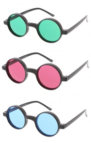 Small Retro Round Lennon Style Color Lens Wholesale Sunglasses