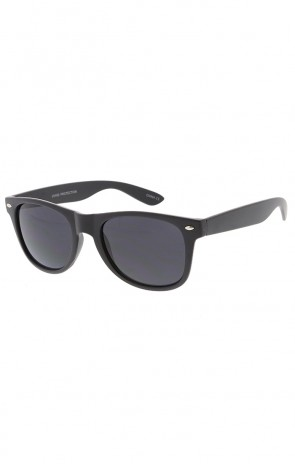 Retro Matte Black Horned Rim Wholesale Sunglasses