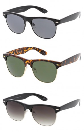 1950's Vintage Inspired Retro Half Frame Horned Rim Wholesale Sunglasses