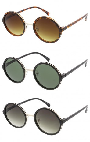 Womens Round Fashion Wholesale Sunglasses