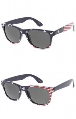 American Flag Frame Horn Rimmed Wholesale Sunglasses