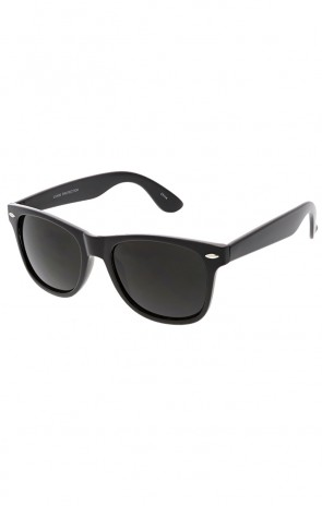Classic All Black Horned Rim Wholesale Sunglasses