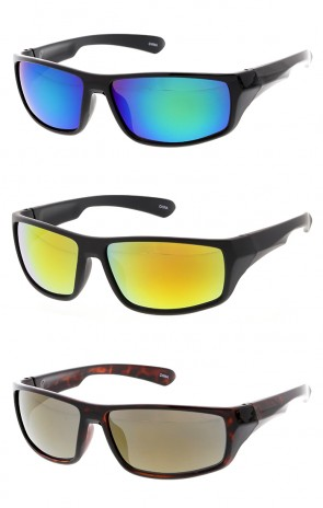 Mirror Lens Sport Wholesale Sunglasses