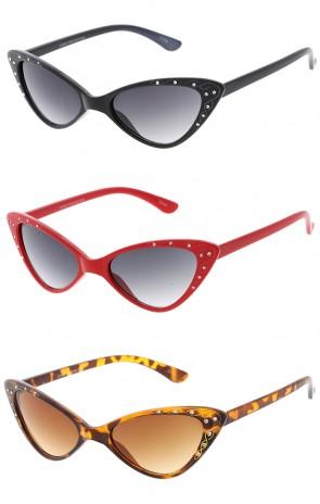 Women's Fashion Designer Cat Eye Rhinestone Wholesale Sunglasses
