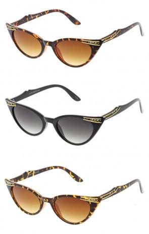 Elegant 50's Vintage Womens Fashion Rhinestone Cat Eye Wholesale Sunglasses