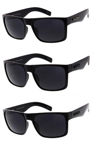 Men's KUSH Flat Top Horn Rimmed Wide Arm Wholesale Sunglasses