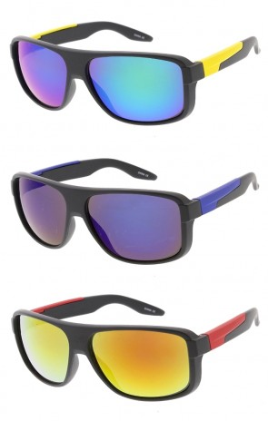 Sports Fashion Active Sportswear Sunglasses w/ Detail Arms