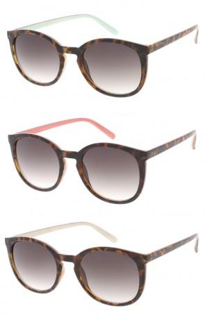 Vintage Keyhole Bridge Tortoise-Pastel Sunglasses