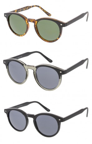 Dapper Indie Vintage Simpered Round Key Hole Wholesale Sunglasses