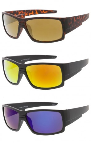 Mens Soft Matte Sports Mirror Lens Wholesale Sunglasses