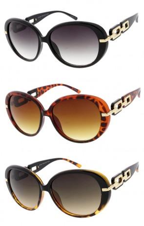 Round Fashion Plastic Wholesale Sunglasses