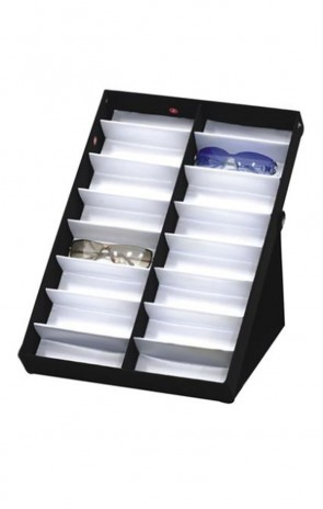 Vinyl Sunglass Display Case Stand 16 Piece Tray