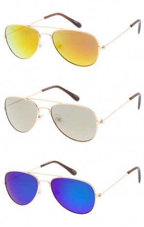 Kids Mirror Lens Aviators Wholesale Sunglasses