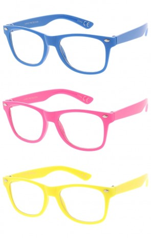 Kids Classic Colorful Clear Lens Wholesale Sunglasses