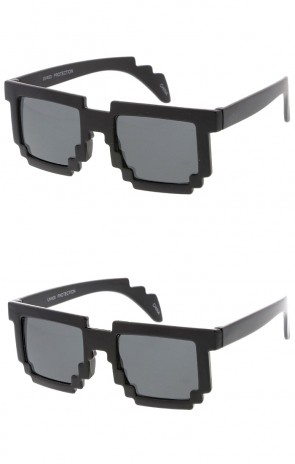 Kids Pixel Horn Rimmed Wholesale Sunglasses Glasses