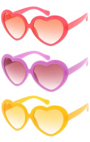 Kids Heart Fashion Wholesale Sunglasses