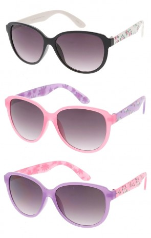 Floral Designed Juniors Wholesale Sunglasses