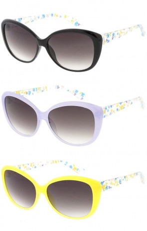 Kids Oversized Cat Eye with Flower Petal Arms Wholesale Sunglasses