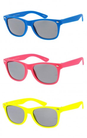 Kids Soft Frame Horn Rimmed Wholesale Sunglasses