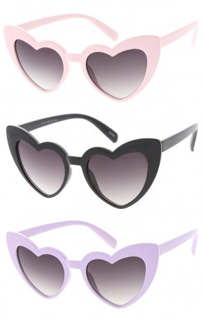 Kids Heart Framed Wholesale Sunglasses