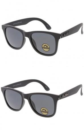KUSH Brand Horn Rimmed Textured Frame Mens Sunglasses