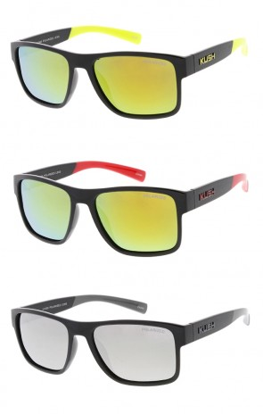 KUSH - Lifestyle Active Sportswear Mirrored Sunglasses (Polarized)