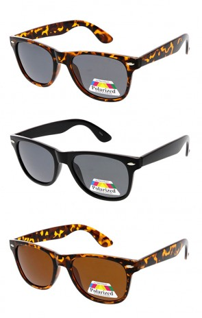 Retro Polarized Horn Rimmed Wholesale Sunglasses