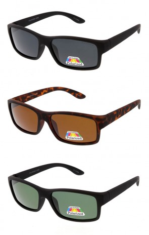 Polarized Matte Square Horn Rimmed Wholesale Sunglasses