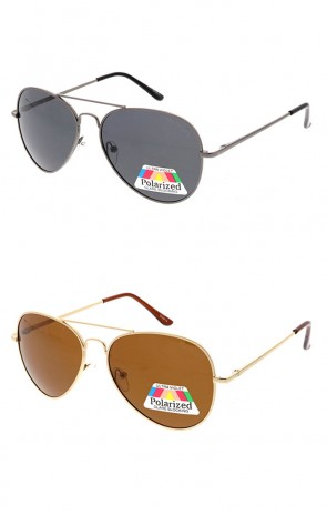 Polarized Metal Frame Aviator Wholesale Sunglasses