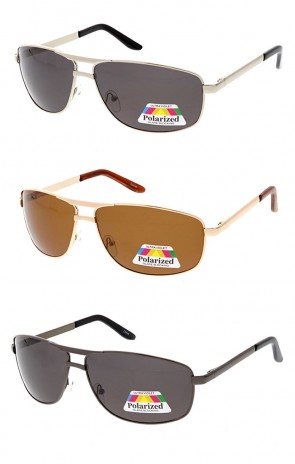 Poloarzed Square Aviator Wholesale Sunglasses