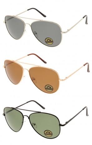 Classic Premium Metal Polarized Lens Aviator Wholesale Sunglasses