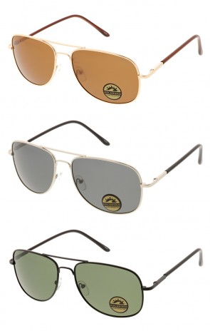 Mens Premium Sports Polarized Lens Aviator Wholesale Sunglasses